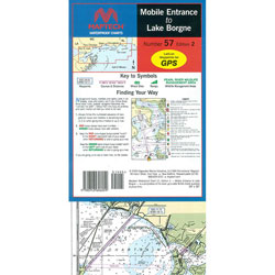 Maptech Folding Waterproof Chart - Mobile Entrance to Lake Borgne