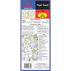 Maptech Folding Waterproof Chart - Puget Sound