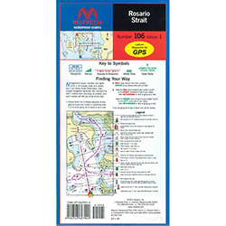 Maptech Folding Waterproof Chart - Number 106, Edition 1