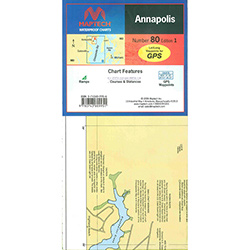 Maptech Folding Waterproof Chart - Annapolis, MD