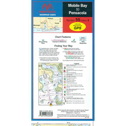 Maptech Folding Waterproof Chart - Mobile Bay to Pensacola