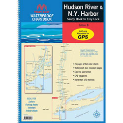 Maptech Waterproof Chartbook - Hudson River, New York Harbor