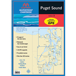 Maptech Waterproof Chartbook - Puget Sound, Washington State