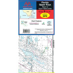 Maptech Folding Waterproof Chart - Upper Florida Keys