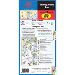 Maptech Folding Waterproof Chart - Narragansett Bay