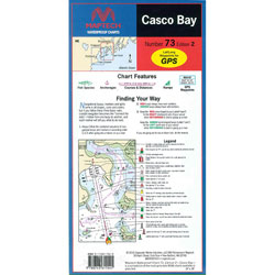 Maptech Folding Waterproof Chart - Casco Bay