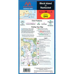Maptech Folding Waterproof Chart - Block Island to Nantucket
