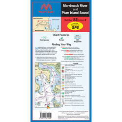 Maptech Folding Waterproof Chart - Merrimack River & Plum Island