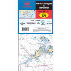 Maptech Folding Waterproof Chart - Martha's Vineyard & Nantucket