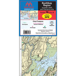 Maptech Folding Waterproof Chart - Boothbay