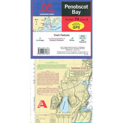 Maptech Folding Waterproof Chart - Penobscot Bay