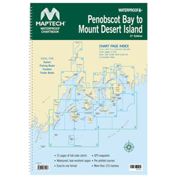 Maptech Waterproof Chartbook - Penobscot Bay to Mount Desert Island, Maine