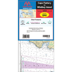 Maptech Folding Waterproof Chart - Cape Flattery to Whidbey Island