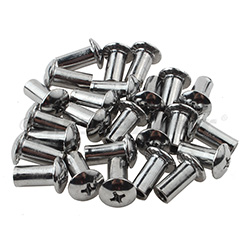 Beckson Standard Mount Truss Head Barrel Nut - Chrome