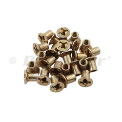Beckson Flush Mount Flat Head Barrel Nut - Cadmium Plated Brass