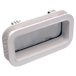Beckson Newport Self-Drain Rectangular Opening Port 714 - White