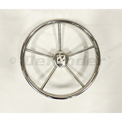 Zodiac 5 Spoke Stainless Steel Steering Wheel