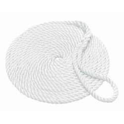 Buccaneer 3-Strand Twisted Nylon Dock Line, 1/2