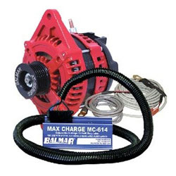 Balmar AT Series Marine Alternator Kit - 200 Amp - Single Foot - 12V - K6 Serp