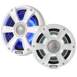 "Fusion Signature 6.5"" Marine Speakers with Dual-Color LED Lighting"