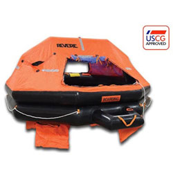 Revere USCG/SOLAS A-Pack Liferaft - 6-Person / Round Container