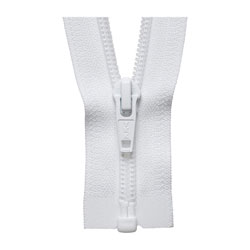 YKK 580 Heavy Duty Separating Zippers - White / 78""