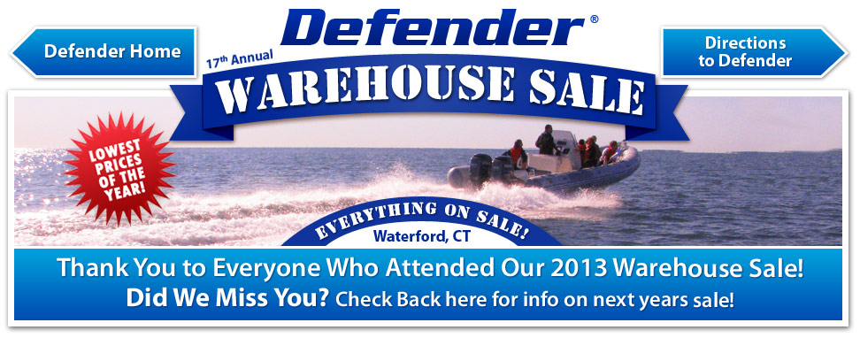 Defender Warehouse Sale