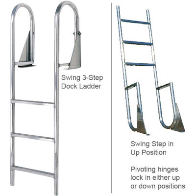 International Dock / Seawall Swing Dock Ladder - 5 Steps