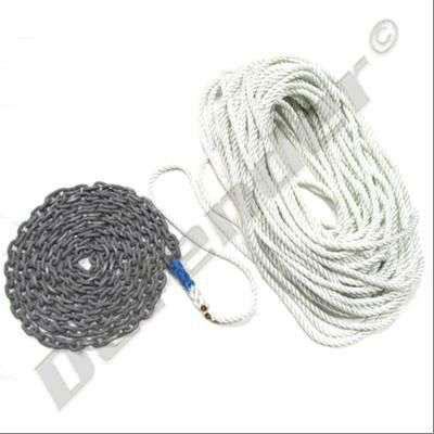 Defender Pre-Made Anchor Rode - 3-Strand Rope and High Test Chain (CRR09)