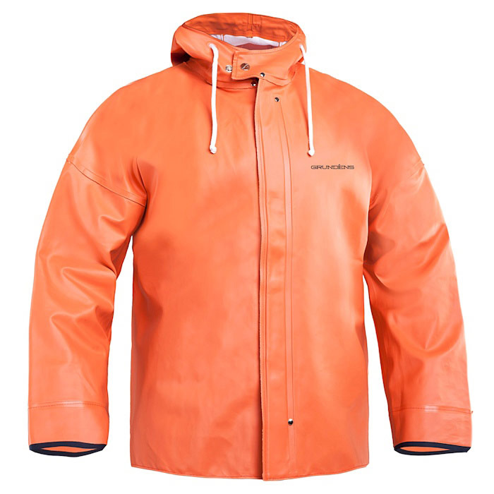 Grundens Brigg 40 Men's Hooded Jacket - Small Orange