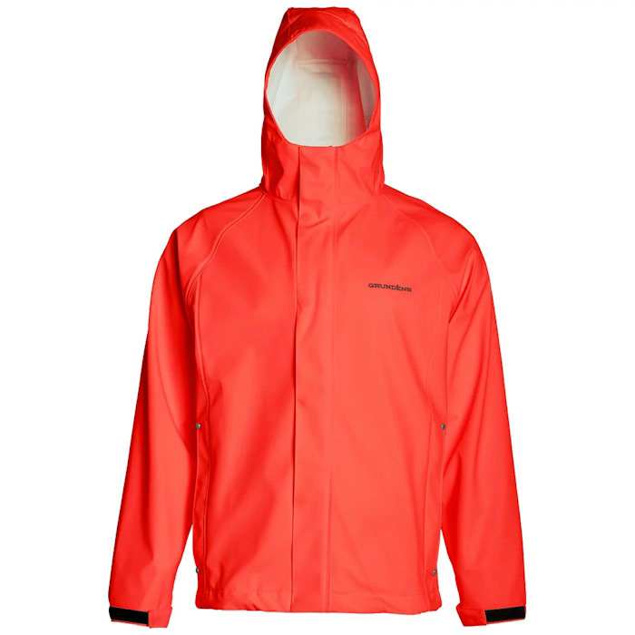 Grundens Men's Neptune Jacket - Orange - Medium