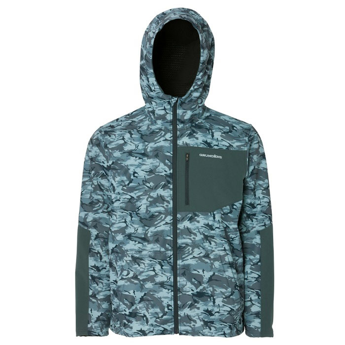 Grundens Bulkhead Tech Fleece Jacket - Large Refraction Camo Dark Slate