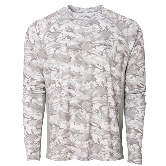 Grundens Men's Solstrale Long Sleeve Crew Shirt - Refraction Camo Glacier 2XL