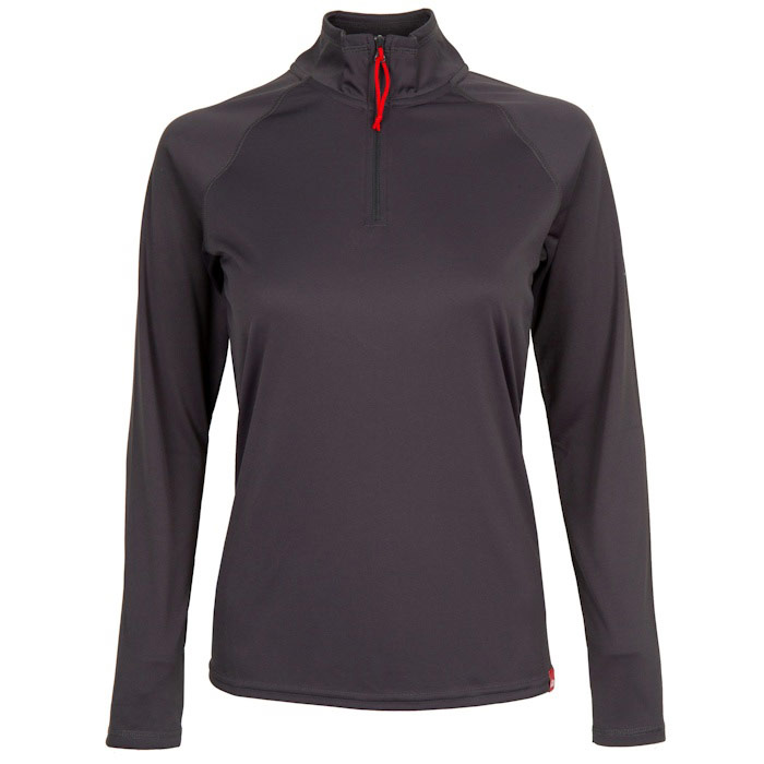 GILL WOMEN'S UV TECL/S ZIP TEE