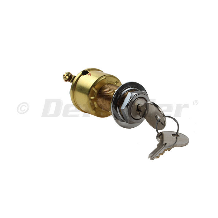 KEY SWITCH IGNITION 2 POSITION COLE HERSEE HD 12-M489BP OFF//IGNITION ON BRASS