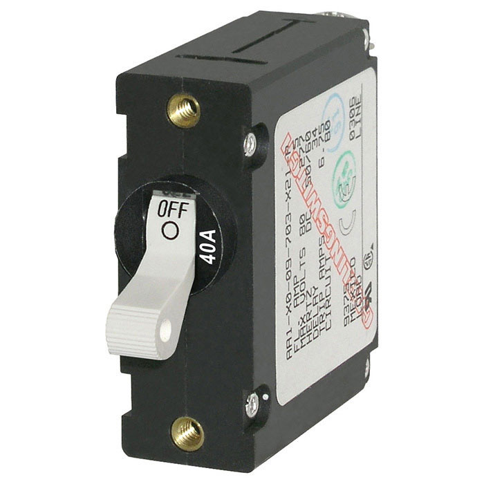 Blue Sea Systems A-Series Toggle Circuit Breaker - Single Pole (7230)