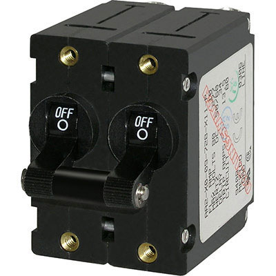 Blue Sea Systems A-Series Toggle Circuit Breaker - Double Pole (7241)