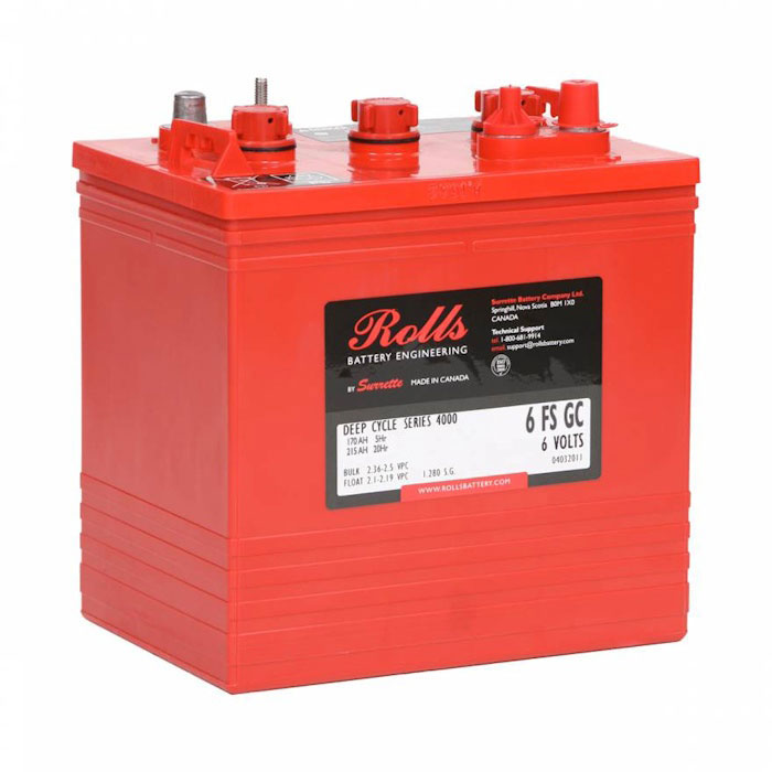 Rolls Flooded Deep Cycle GC2 Marine Battery