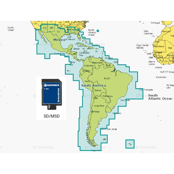 Navionics Chart Updates - Central and South America
