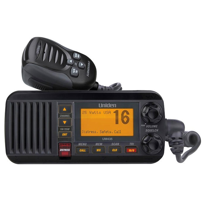 Uniden UM435 Fixed-Mount VHF Radio - Black