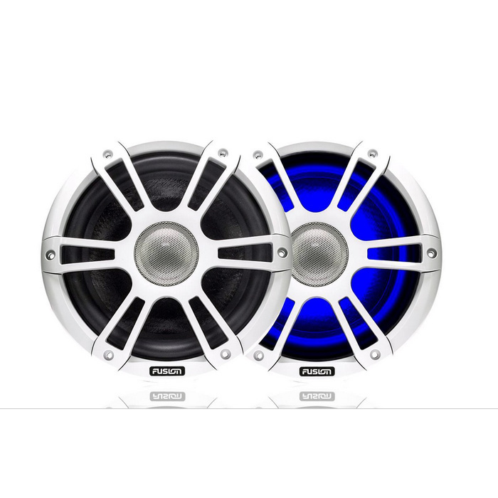 "Fusion Signature Series 7.7"" Marine Speakers with Dual-Color LED Lighting"