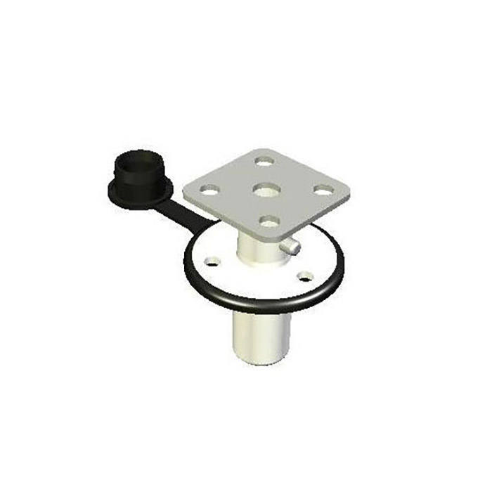 Magma Single Locking Flush Deck BBQ Grill Socket Mount