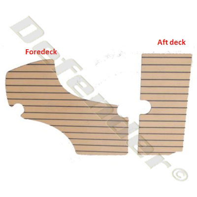 Synthetic Teak Decking for Zodiac (Yl420DL & SEASPORT 420DL/440DL)