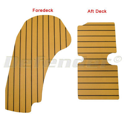 Synthetic Teak Decking for Zodiac (YL380DL & SEASPORT 380DL/400DL)