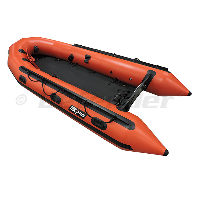 "Zodiac MilPro ERB400 Emergency Response Inflatable Boat, 13' 5"", Red"