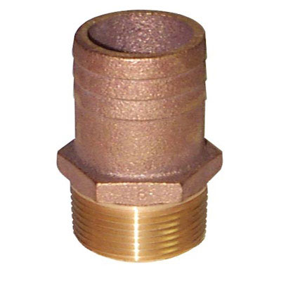 Groco FF-Series Straight Full Flow Pipe to Hose Adapter - 2-1/2 Inch NPT