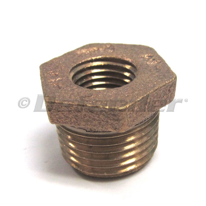 Bronze Pipe Reducer / Adapter Bushing - 1-1/2