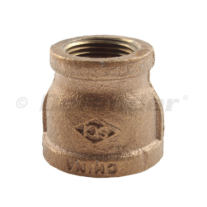Bronze Pipe Reducer / Adapter Coupler - 3/4