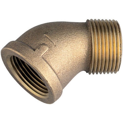 Bronze Pipe 45-deg Street Elbow Male/Female - 1-1/2