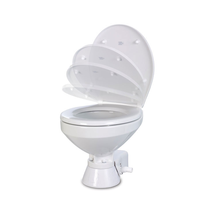Jabsco Quiet-Flush Electric Toilet, Household Bowl, Standard Height